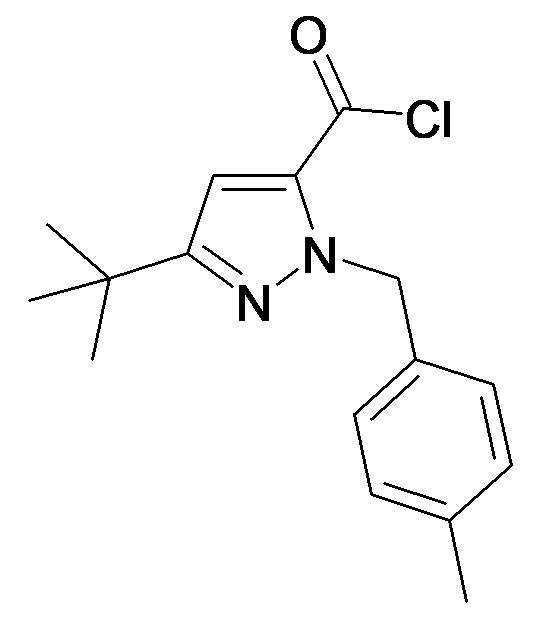 5-tert-Butyl-2-(4-methyl-benzyl)-2H-pyrazole-3-carbonyl chloride