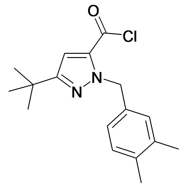 5-tert-Butyl-2-(3,4-dimethyl-benzyl)-2H-pyrazole-3-carbonyl chloride
