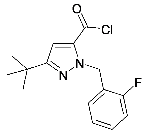 5-tert-Butyl-2-(2-fluoro-benzyl)-2H-pyrazole-3-carbonyl chloride