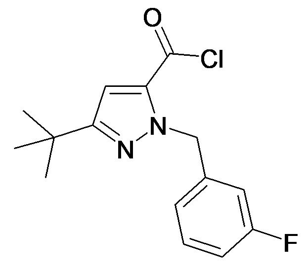 5-tert-Butyl-2-(3-fluoro-benzyl)-2H-pyrazole-3-carbonyl chloride