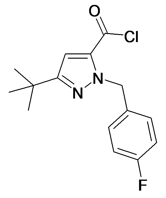 5-tert-Butyl-2-(4-fluoro-benzyl)-2H-pyrazole-3-carbonyl chloride