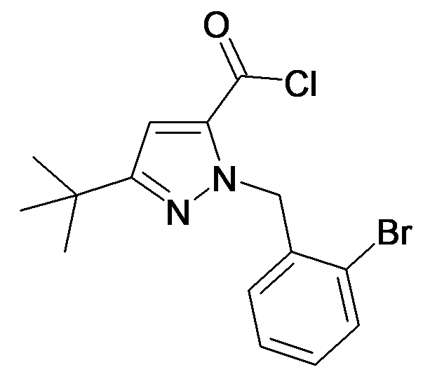 2-(2-Bromo-benzyl)-5-tert-butyl-2H-pyrazole-3-carbonyl chloride