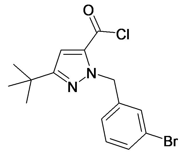 2-(3-Bromo-benzyl)-5-tert-butyl-2H-pyrazole-3-carbonyl chloride