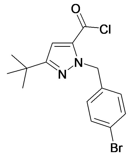 2-(4-Bromo-benzyl)-5-tert-butyl-2H-pyrazole-3-carbonyl chloride