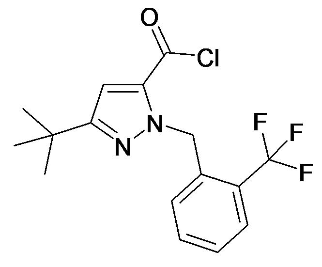 5-tert-Butyl-2-(2-trifluoromethyl-benzyl)-2H-pyrazole-3-carbonyl chloride