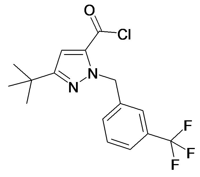 5-tert-Butyl-2-(3-trifluoromethyl-benzyl)-2H-pyrazole-3-carbonyl chloride