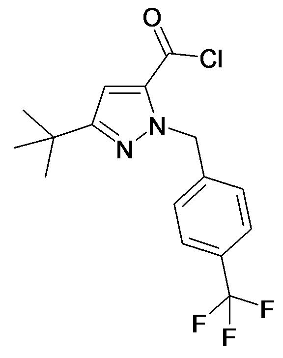 5-tert-Butyl-2-(4-trifluoromethyl-benzyl)-2H-pyrazole-3-carbonyl chloride