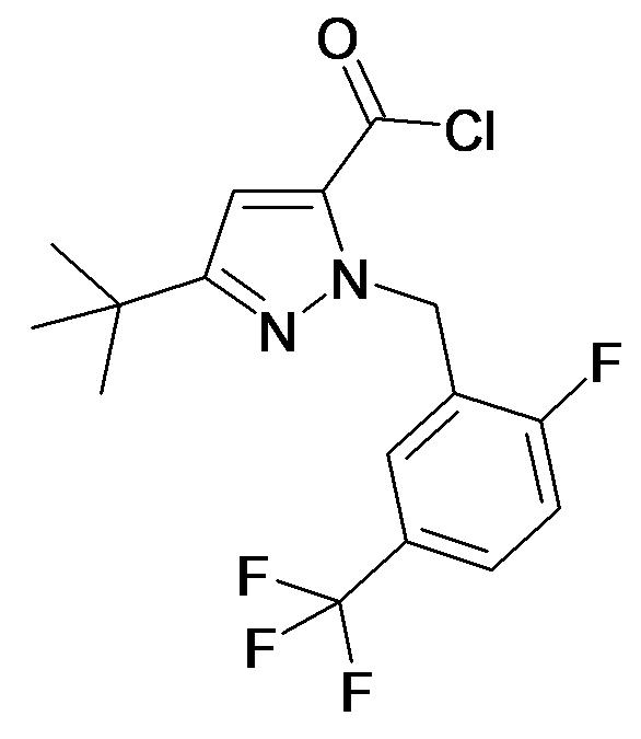 5-tert-Butyl-2-(2-fluoro-5-trifluoromethyl-benzyl)-2H-pyrazole-3-carbonyl chloride