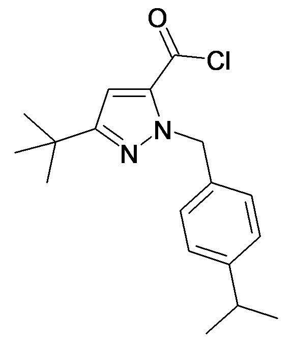 5-tert-Butyl-2-(4-isopropyl-benzyl)-2H-pyrazole-3-carbonyl chloride