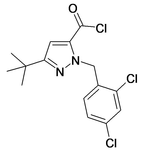 5-tert-Butyl-2-(2,4-dichloro-benzyl)-2H-pyrazole-3-carbonyl chloride