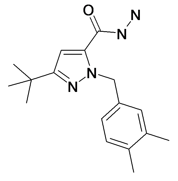 5-tert-Butyl-2-(3,4-dimethyl-benzyl)-2H-pyrazole-3-carboxylic acid hydrazide