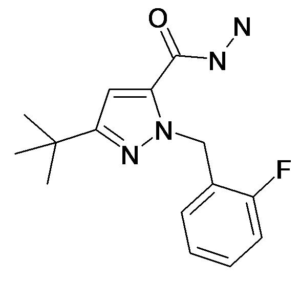 5-tert-Butyl-2-(2-fluoro-benzyl)-2H-pyrazole-3-carboxylic acid hydrazide