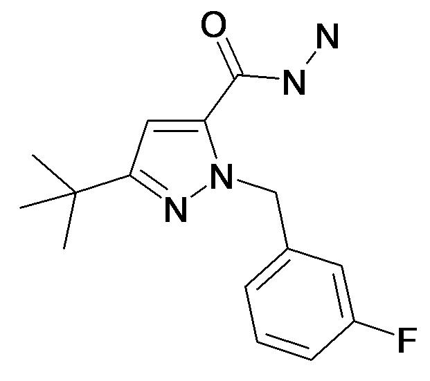 5-tert-Butyl-2-(3-fluoro-benzyl)-2H-pyrazole-3-carboxylic acid hydrazide