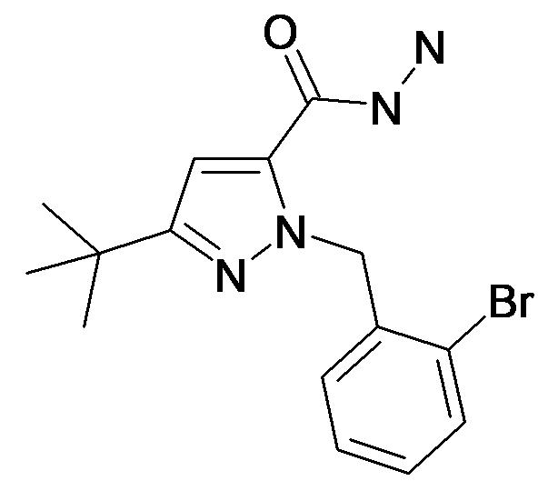 2-(2-Bromo-benzyl)-5-tert-butyl-2H-pyrazole-3-carboxylic acid hydrazide