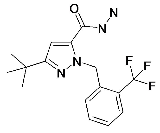 5-tert-Butyl-2-(2-trifluoromethyl-benzyl)-2H-pyrazole-3-carboxylic acid hydrazide