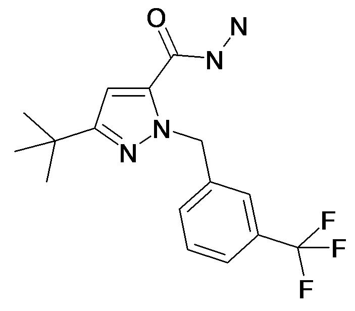 5-tert-Butyl-2-(3-trifluoromethyl-benzyl)-2H-pyrazole-3-carboxylic acid hydrazide