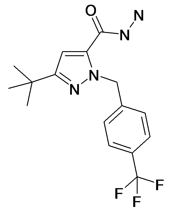 5-tert-Butyl-2-(4-trifluoromethyl-benzyl)-2H-pyrazole-3-carboxylic acid hydrazide