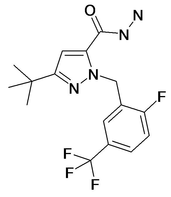 5-tert-Butyl-2-(2-fluoro-5-trifluoromethyl-benzyl)-2H-pyrazole-3-carboxylic acid hydrazide