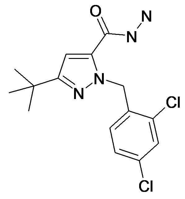 5-tert-Butyl-2-(2,4-dichloro-benzyl)-2H-pyrazole-3-carboxylic acid hydrazide