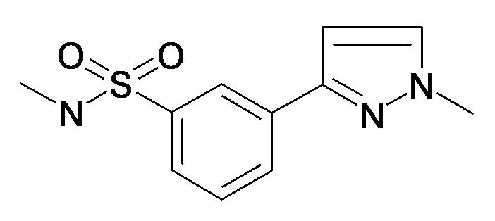 N-Methyl-3-(1-methyl-1H-pyrazol-3-yl)-benzenesulfonamide