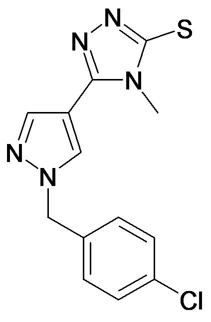 5-[1-(4-Chloro-benzyl)-1H-pyrazol-4-yl]-4-methyl-4H-[1,2,4]triazole-3-thiol