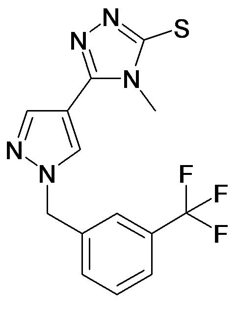 4-Methyl-5-[1-(3-trifluoromethyl-benzyl)-1H-pyrazol-4-yl]-4H-[1,2,4]triazole-3-thiol