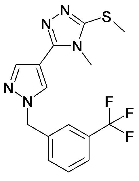 4-Methyl-3-methylsulfanyl-5-[1-(3-trifluoromethyl-benzyl)-1H-pyrazol-4-yl]-4H-[1,2,4]triazole