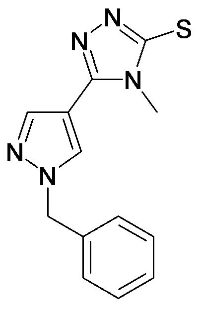 5-(1-Benzyl-1H-pyrazol-4-yl)-4-methyl-4H-[1,2,4]triazole-3-thiol