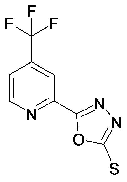 5-(4-Trifluoromethyl-pyridin-2-yl)-[1,3,4]oxadiazole-2-thiol