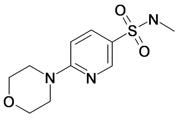 6-Morpholin-4-yl-pyridine-3-sulfonic acid methylamide