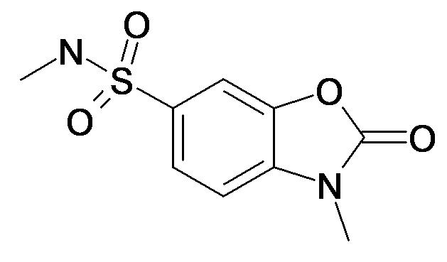 3-Methyl-2-oxo-2,3-dihydro-benzooxazole-6-sulfonic acid methylamide