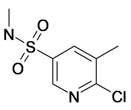 6-Chloro-5-methyl-pyridine-3-sulfonic acid methylamide