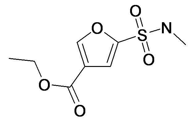 5-Methylsulfamoyl-furan-3-carboxylic acid ethyl ester