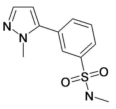 N-Methyl-3-(2-methyl-2H-pyrazol-3-yl)-benzenesulfonamide