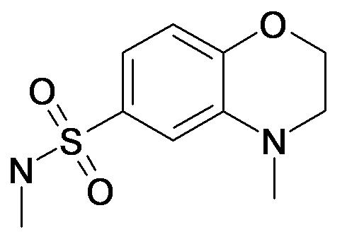 4-Methyl-3,4-dihydro-2H-benzo[1,4]oxazine-6-sulfonic acid methylamide