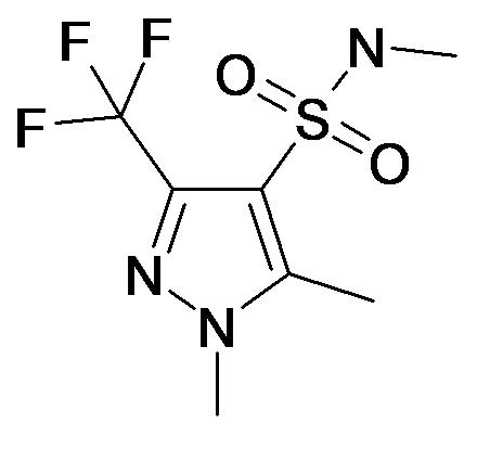 1,5-Dimethyl-3-trifluoromethyl-1H-pyrazole-4-sulfonic acid methylamide