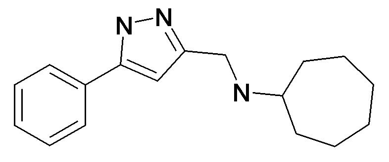 Cycloheptyl-(5-phenyl-1H-pyrazol-3-ylmethyl)-amine