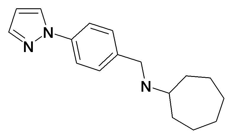 Cycloheptyl-(4-pyrazol-1-yl-benzyl)-amine