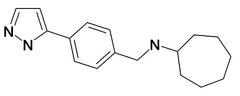 Cycloheptyl-[4-(2H-pyrazol-3-yl)-benzyl]-amine