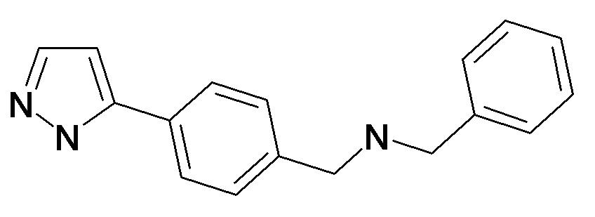 Benzyl-[4-(2H-pyrazol-3-yl)-benzyl]-amine