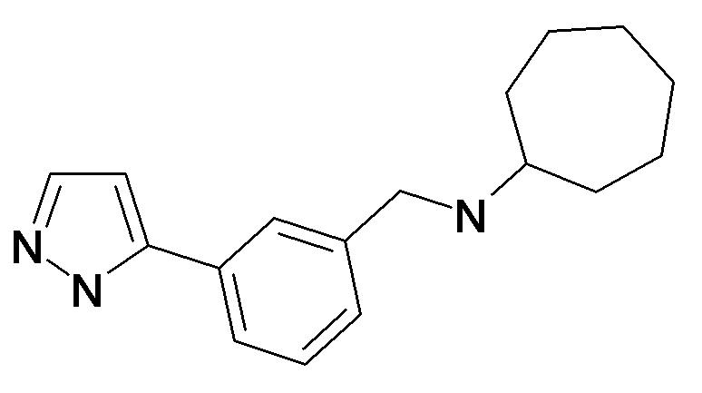 Cycloheptyl-[3-(2H-pyrazol-3-yl)-benzyl]-amine