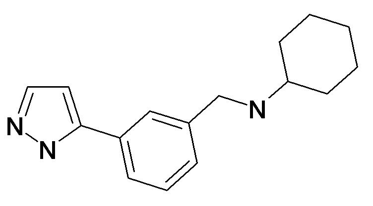 Cyclohexyl-[3-(2H-pyrazol-3-yl)-benzyl]-amine