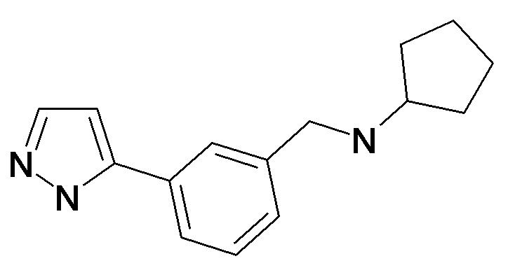 Cyclopentyl-[3-(2H-pyrazol-3-yl)-benzyl]-amine