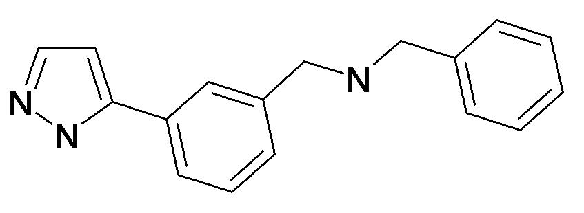 Benzyl-[3-(2H-pyrazol-3-yl)-benzyl]-amine
