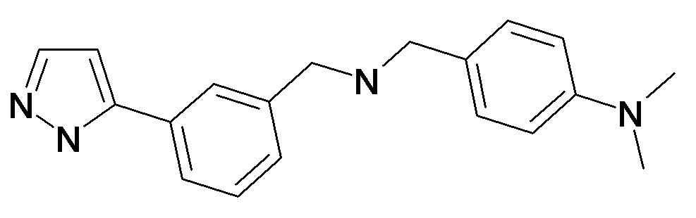 Dimethyl-(4-{[3-(2H-pyrazol-3-yl)-benzylamino]-methyl}-phenyl)-amine