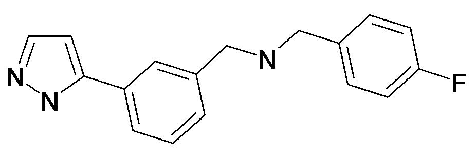 (4-Fluoro-benzyl)-[3-(2H-pyrazol-3-yl)-benzyl]-amine