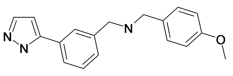 (4-Methoxy-benzyl)-[3-(2H-pyrazol-3-yl)-benzyl]-amine