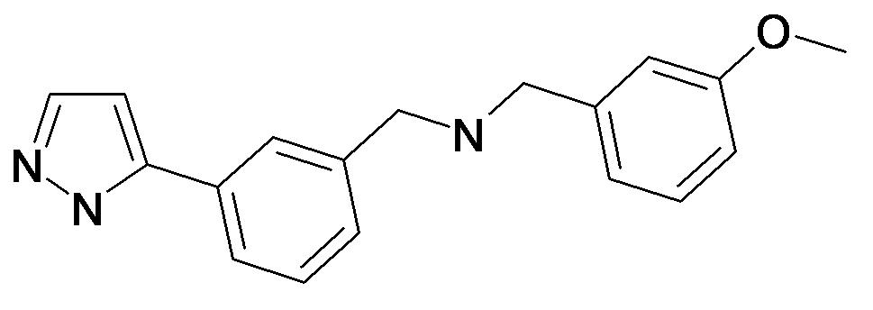 (3-Methoxy-benzyl)-[3-(2H-pyrazol-3-yl)-benzyl]-amine