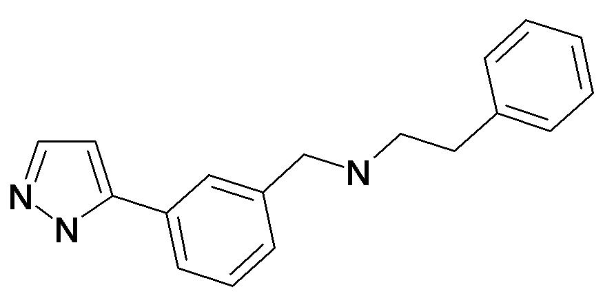 Phenethyl-[3-(2H-pyrazol-3-yl)-benzyl]-amine