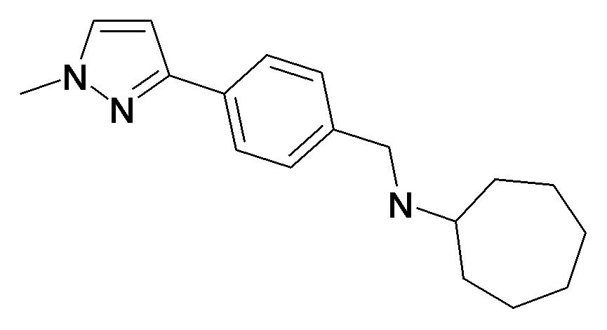 Cycloheptyl-[4-(1-methyl-1H-pyrazol-3-yl)-benzyl]-amine